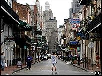Calle Bourbon en Nueva Orleans.