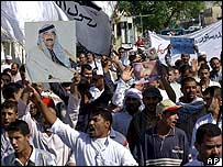 Sunnis protest in Tikrit, Saddam Hussein's hometown