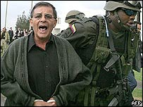 Arrested Colombian guerrilla commander, Rodrigo Granda