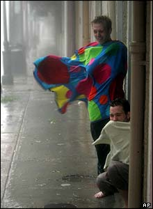 People try to shelter in New Orleans' French Quarter