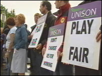 Protesters over car parking charges at Glan Clwyd Hospital