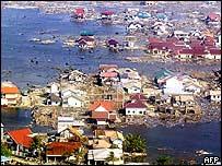 Zona afectada por el maremoto