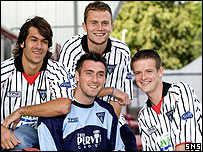 Allan McGregor, James McCunnie, Liam Horsted and Yannick Zambernardi