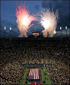 The night session gets off to a spectacular start on Arthur Ashe Court.