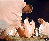 Stone gathering at Muzdalifa