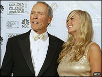 Clint Eastwood and daughter Kathryn at the Golden Globes