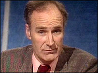 Peter Snow presenting Newsnight in 1982