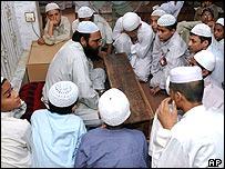 Students at Jamia Binoria madrassa in Karachi