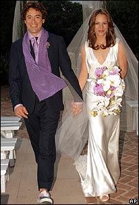 Wedding of Robert Downey Jr and Susan Levin