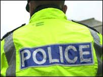Policeman's back