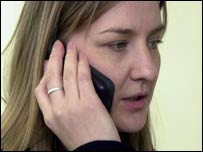 Image of a woman speaking on her mobile phone