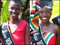 Miss Rural Zimbabwe winner Liweline Mukana (left), Runner-up Abigail Mabhoni (right)