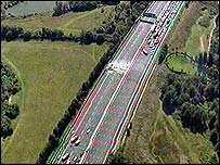 The closed section of the M25