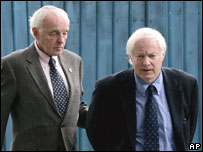 James Leach (r) and Tom Lantos en route to Beijing airport, 30 Aug