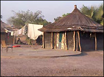 Thatched houses in Rumbek, Sudan
