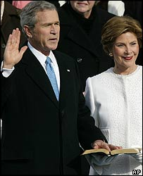 Bush taking the oath of office