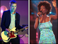 Damon Albarn (left) and Heather Small (right)