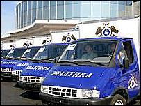 Автомобили с символикой пивоваренной компании &#039Балтика&#039 (фото с сайта компании)