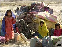 File photograph of Afghan refugees in Iran