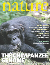 Cover of Nature magazine