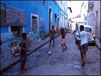 Street in Salvador de Bahia, Brazil