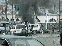 من موقع انفجار في العراق