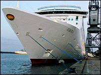 Cruise liner Aurora docked in Southampton