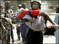 Rescuers in New Orleans