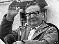 Former Chilean President Allende (1971 picture)
