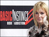 Sharon Stone promoting Basic Instinct II