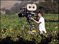 Alexander Payne filming Sideways