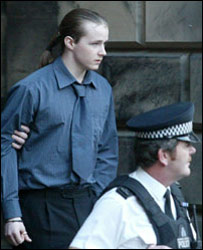 Luke Mitchell, pictured leaving the High Court in Edinburgh