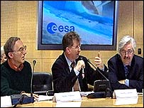 Marty Tomasko (izquierda, Jean Pierre Lebreton (centro), David Southwood (derecha