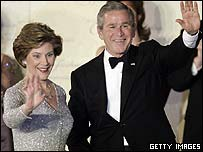 Laura and George Bush at the Freedom Ball