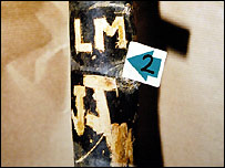 A tree from near the murder scene with the initials LM and JJ