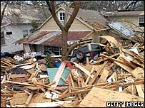 House destroyed by Hurricane Katrina