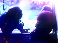 Generic image of children in silhouette