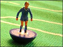 Chelsea Subbuteo figure from the 1980s