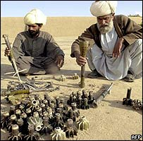 Baloch tribesmen with expended shells