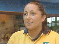 Lifeguard Karen Gibson