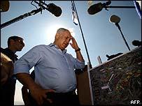 Binyamin Netanyahu at the West bank settlement of Maale Adumim