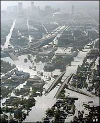 Scene of flooding across New Orleans