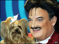 Rudolph Moshammer with his dog Daisy