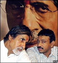 Amitabh Bachchan (L) and director Ram Gopal Verma