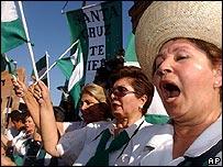 Mujeres de Santa Cruz, Bolivia, reclaman autonom�a del gobierno central