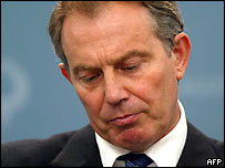 A pensive Tony Blair at the G8 summit in Gleneagles