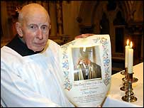 Peter Staley with his scroll from the Pope