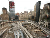 Site of destroyed World Trade Center towers, New York 2004