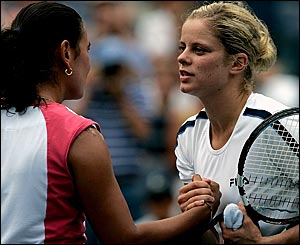 Fabiola Zuluaga and Kim Clijsters