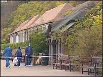 The shelter on Eastbourne seafront